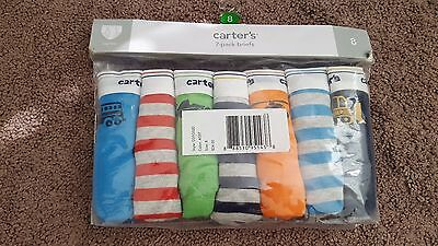 NWT Carter's boys' 7 pack cotton briefs size 8
