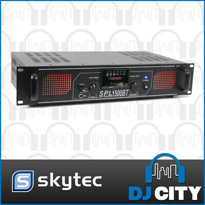 Skytec SPL1500BTMP3 Power Amplifier 2x750W PA Party Amp Bluetooth & MP3 Player
