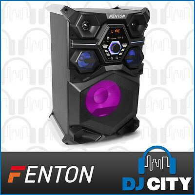 Fenton Live101 Portable LED Bluetooth Party Karaoke Speaker w/ Dual Mic Inputs