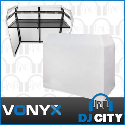 Vonyx DB3 DJ Facade Light Screen Stand Table Booth System w/ Carry Bag