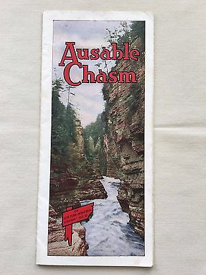 Ausable Chasm New York NY 1930s Brochure Map Lake Champlain
