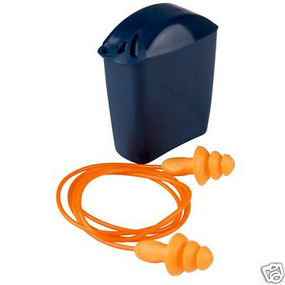 3M 1271 Re-usable (Corded) Ear Plugs with Storage Case Kit - Hearing protect a