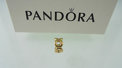 Genuine / Authentic Pandora 14k Yellow Gold Link Spacer Charm 750222 - RARE
