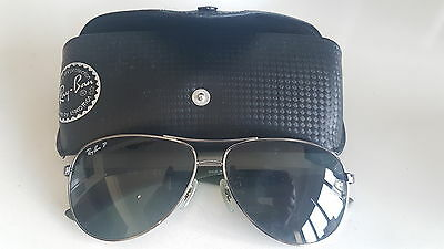 Men's Ray-Ban Polarised Carbon Fibre Aviator Sunglasses Sunnies RB8313
