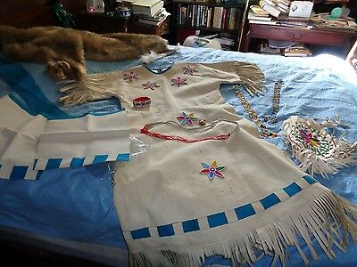 Native american style beaded dress :Worn at 1980 Olympics by Lady Athele Winner-