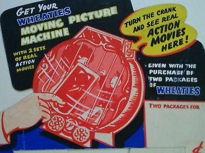 1950's Decoder Wheaties Picture Machine Cereal ORIGINAL Toy Store Display Sign