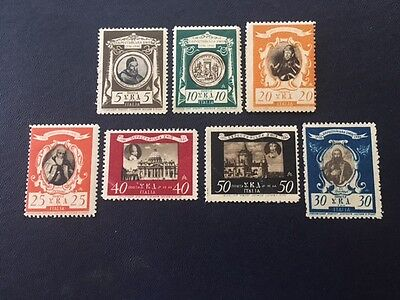 Italy Set of 7 Ukrainian Camp Post Stamps For Support Of Prisoners Of War