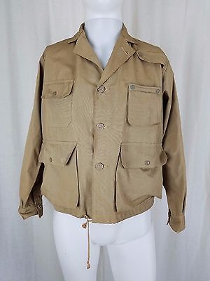 Vintage Congress Fly Caster 1940s Canvas FLY FISHING Hunting Safari Cargo Jacket