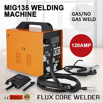 Mig135 Gasless Flux Core Welding Machine  120AMP 220V Gas-Protecting PROMOTION