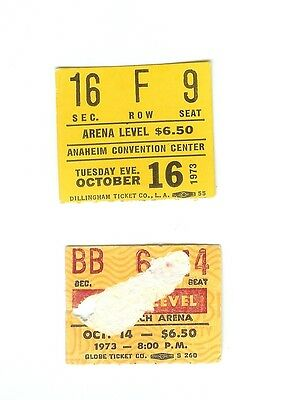 2 Concert Ticket Stubs - FACES - Oct 14 1973  & Oct 16 1973 Two Different Venues