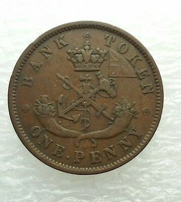 1850 Upper Canada BR# 720 One Penny Token With Dot Variety, Collectible Coin