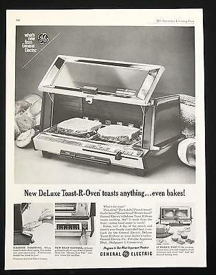 1961 Vintage Print Ad 60's GENERAL ELECTRIC Toast-R-Oven Image