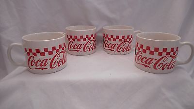 Vintage Coca Cola Set of 4 Large Mugs By Gibson Dinnerware
