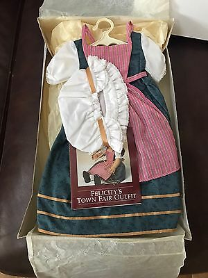 """Felicity American Girl 18"""" Doll Retired Limited Edition Town Fair Outfit NIB PC"""