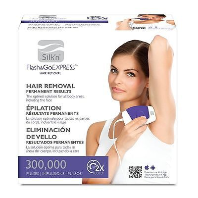 Silk N Flash & Go Express Hair Removal Device 300,000 Flashes