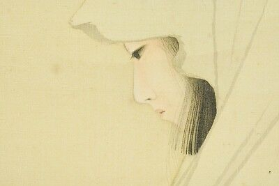 Hanging Scroll Japanese Painting Beauty journey Japan Asian Picture Snow b488