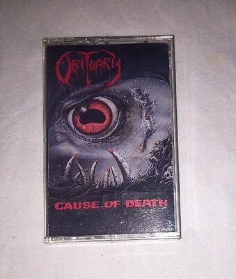 OBITUARY - CAUSE OF DEATH ( ROADRUNNER 1990 First Edition) AUTOGRAPHED EX RARE