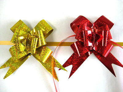 100 pcs x large size Ribbon Pull Bows 320x510 mm / Assorted color and patterns