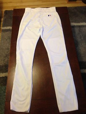Majestic Mens Baseball Pants White Medium NWOT Open Hem