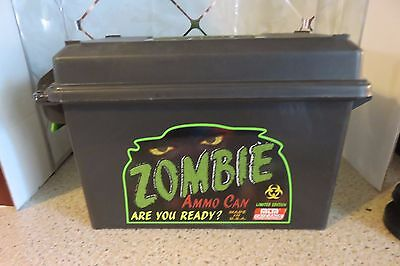 NEW Authentic MTM Limited Edition Zombie Ammo Can Black & Green Made in U.S.A.