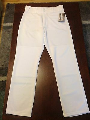 Majestic Mens Baseball Pants White Medium NWT
