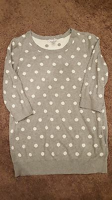 Pre-owned Motherhood Maternity polka dot sweater size XL