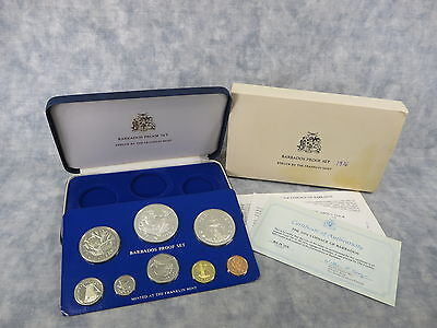 BARBADOS 10th Anniversary of Independence Silver Proof Set (Franklin Mint, 1976)