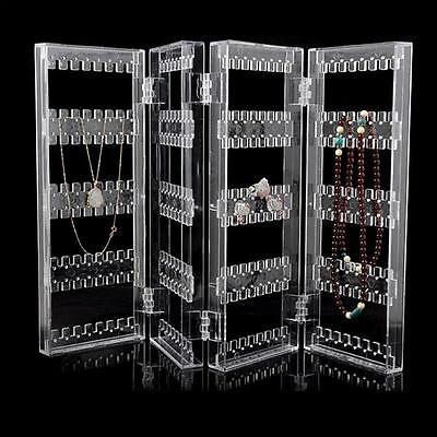 Clear Acrylic Earrings Necklace Jewelry Display Rack Stand Organizer Holder RTCA