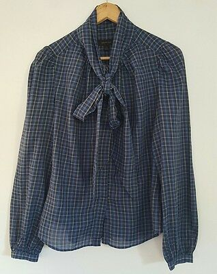 Country Road Ladies Long Sleeve Check Shirt Blouse Size 10