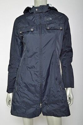 The North Face Black Laney Trench Windbreaker Hooded Womens Jacket Coat Sz S
