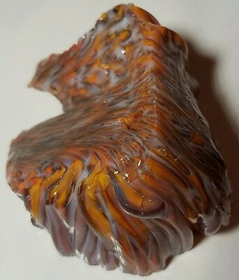 WILD! MULTICOLOR MELTED SPAGETTI Vintage Akro Agate Marble Cullet RARE 2.3 oz.