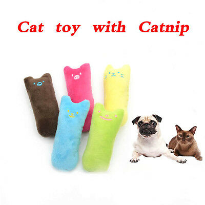 Cat Kitty Teeth Pillow Interactive Scratch Crazy Kicker Catnip Toy Grinding BO