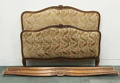 Double Bed A French Upholstered Cherrywood Double Bed     k035
