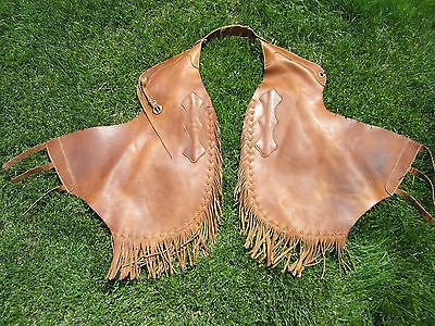 Vintage Western Real Leather High Quality Rodeo Chaps Perfect