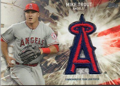 Mike Trout 2017 Topps 2 Team Logo Patch Card