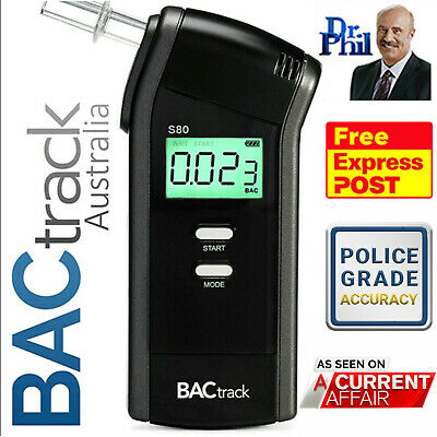 Breathalyser. Alcohol Breath Tester. BACtrack S80 Pro Police Unit. 100% GENUINE