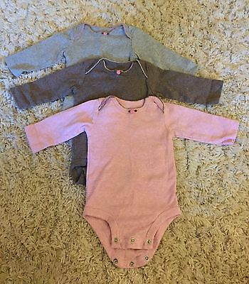 Carter's Baby Girl Long-sleeve One Piece Lot - 3 Months/3M