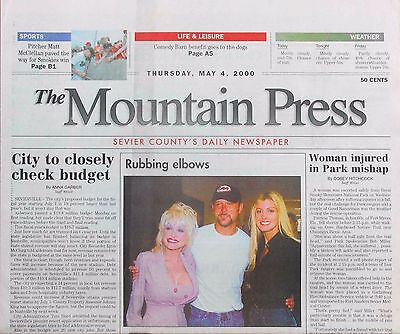 Mountain Press Newspaper Rubbing Elbows - Dolly Parton Tim McGraw Faith Hill