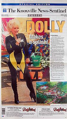 Knoxville News-Sentinel Dolly Parton Makes A Splash at New Water Park