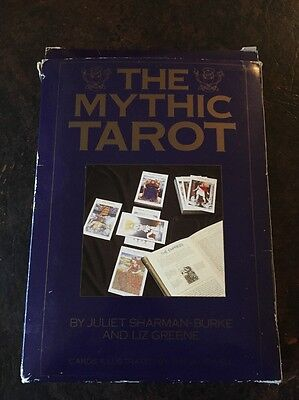 The Mythic Tarot By Liz Greene 1992 - 78 Card Deck / Book / Tarot Cloth
