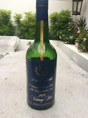 Commerative Prince Charles & Diana Port Bottle (sealed But Empty)
