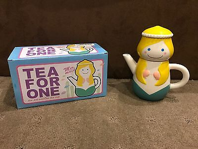Little Mermaid Teapot & Cup For One - 17cm Tall - Brand New In Box
