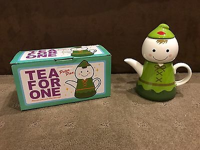 Peter Pan Teapot & Cup For One - 20cm Tall - Brand New In Box
