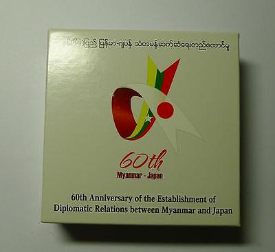 2014 60th ANNIVERSARY OF MYANMAR-JAPAN SILVER PROOF COIN