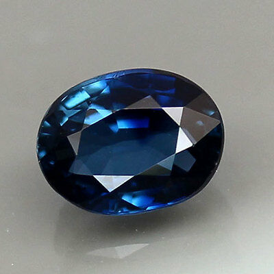 UNHEATED! 1.06ct.IF 100%NATURAL ROYAL BLUE SAPPHIRE GEMSTONE OVAL TOP GRADE !