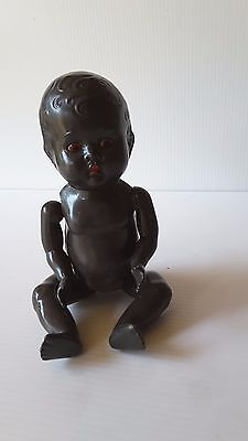 "Vintage 1950's Black Doll ""Suzy"" MOVABLE EYES"