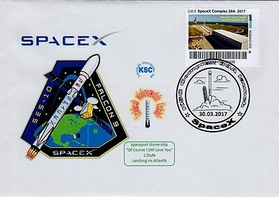 Space  Biberpost 60c Complex 39A Spacex  launch SES-10 2017