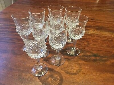 Crystal Port/Sherry Glasses x 9