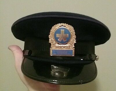 Montreal police montreal urban community police hat vintage obsolete rare!
