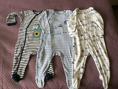 Next Baby Sleepsuits Size 9-12 Months